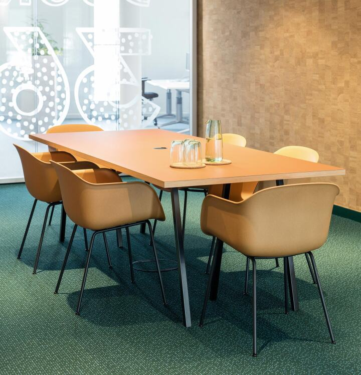Linoleum conference table