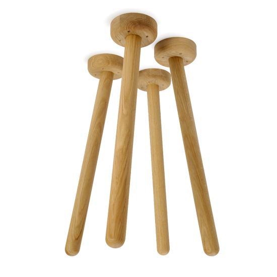 MT2 Eiche (4 Stück), Tische & Gestelle, Tischgestelle, Tischgestell, Tischbeine, Holz