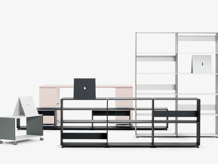 2016 – The Plusminus linoleum shelving system designed by Daniel Lorch
