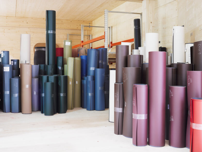 Linoleum wird aus natürlichen Materialen hergestellt