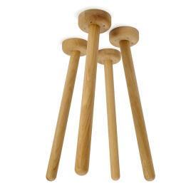 MT2 Eiche (4 Stück), Gestelle, Tischgestelle, Tischgestell, Tischbeine, Holz