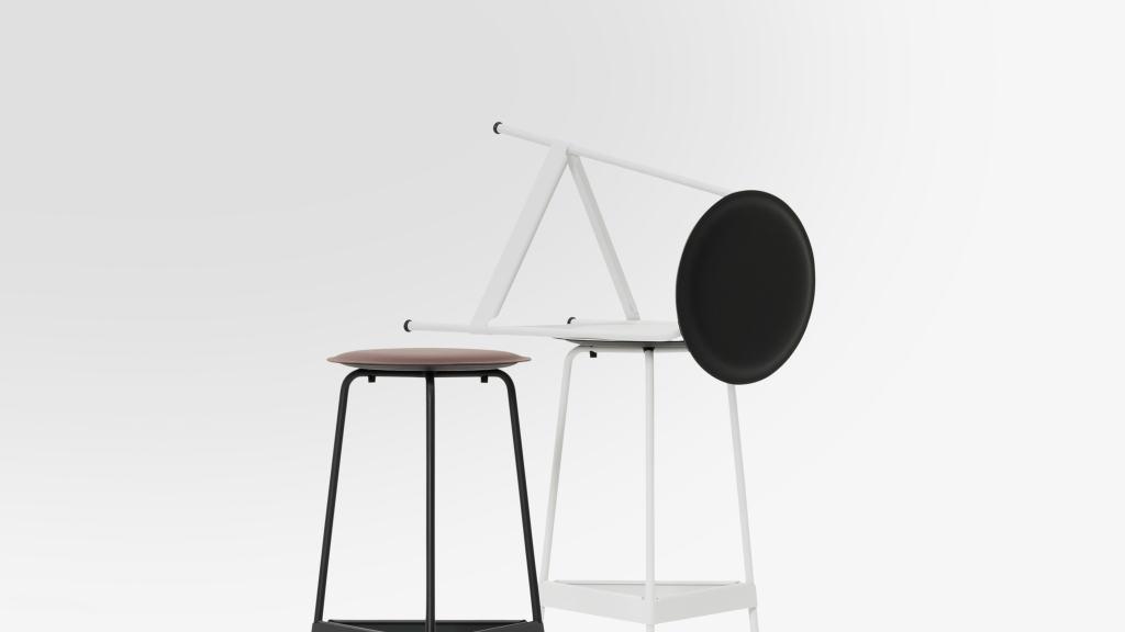 Ravioli Linoleum Barhocker L, Sitzsysteme